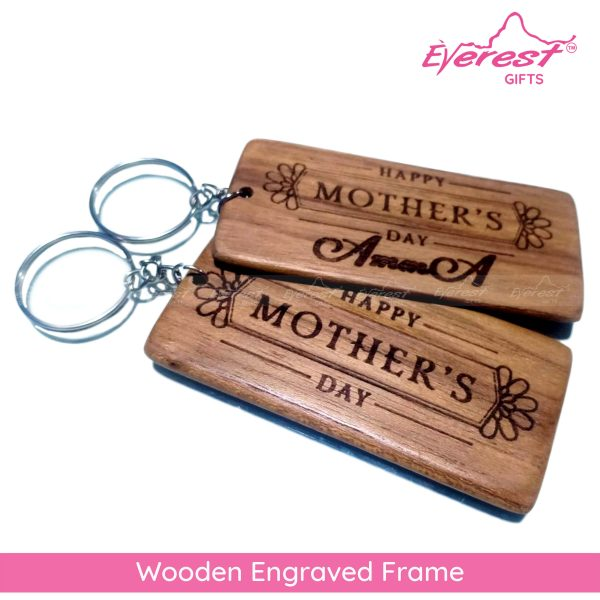 Wooden Engraved Key Tags